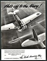 1942 WWII NORTH AMERICAN AVIATION T-6 Texan Trainer Aircraft Plane AD