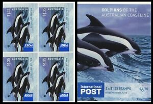 2009 Dolphins of the Australian Coastline - $1.35 Sheetlet Block of 4 Stamps