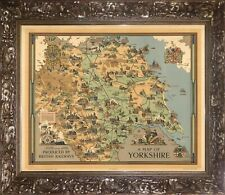 A Map of Yorkshire Produced by British Rail 1949 - Artist Estra Clark