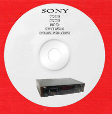 Sony DTC-55ES DTC-75ES DTC-700 Service manual on 1 cd in pdf format