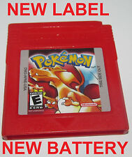Pokemon Red Version w/ New Save Battery & Label Nintendo GameBoy