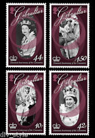 Coronation of Queen Elizabeth II 60th Anniv set of 4 mnh 2013 Gibraltar #1365-8