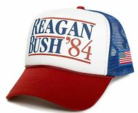 Custom Reagan Bush 84 Campaign New Curved Hat Cap Baseball Republican President