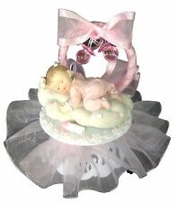 Baby Girl on a Cloud Christening Baby Shower Cake Top Decoration Centerpiece