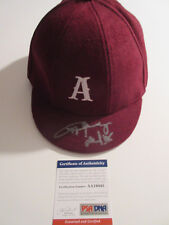 ANGUS YOUNG SIGNED SCHOOL BOY HAT PSA/DNA AA19445 AC/DC CAP BACK IN BLACK RARE