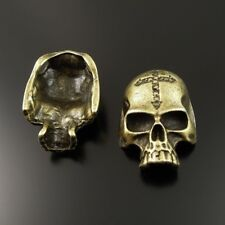35713 Antique Bronze Tone Alloy Skull Head Charms Pendant Findings 8pcs