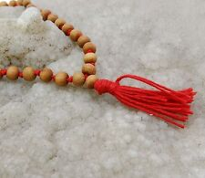 Traditional Brown108 Beads Meditation Indian Sandalwood Japa Mala Spiritual