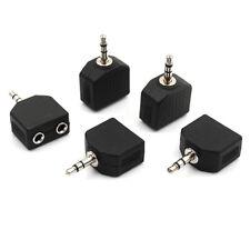 5Pcs da 3,5 mm a doppio 2 RCA femmina jack maschio Y splitter convertitore ada