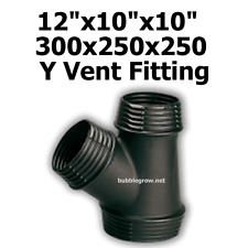 """12""""X10""""x10"""" 300X250X250 Y DUCTING PIECE JOINER AIR COOLING VENTILATION FAN DUCT"""