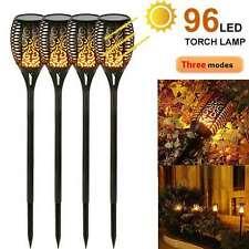 Solarleuchte Beleuchtung 96 LED Garten Solar Licht Lampe Fackel Leuchte Flamme