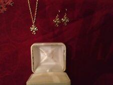 Black Hills Gold Pendant 10K Cross Necklace w/ Earrings
