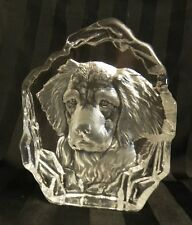Glass Retriever Figurine/Paperweight, Etched-Cut & Frosted Crystal - Beautiful!!