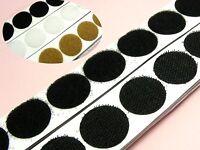 25 pairs x SELF ADHESIVE DOTS 25MM Width Hook & LOOP TAPE ~Black/ White/ Brown~