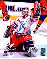 Mike Richter autographed signed 8x10 photo NHL New York Rangers PSA COA