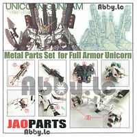 Gunpla Metal Detail Up Parts Set for MG 1/100 FA Full Armor Unicorn Gundam Model