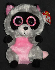 TY BEANIE BOOS - ROCCO the RACCOON  - NEAR MINT with MINT TAGS