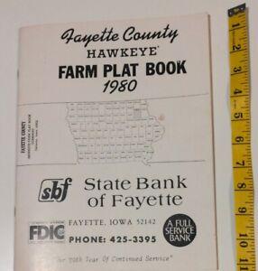 Farm Plat Map Booklet, Fayette County Iowa, 1980