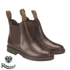 Rhinegold Childrens Classic Leather Jodhpur Boots (sizes J10-5) **FREE P&P**