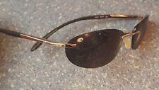 Costa Del Mar Silver Lash Thin Sunglasses Made in Italy Flexible Polarized Case