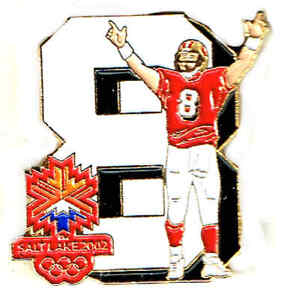 1995 NFL SUPER BOWLXXIX MVP STEVE YOUNG 2002 SALT LAKE CITY OLYMPICS PIN