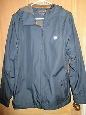 NEW* Quiksilver MENS M Jacket HOODY COAT $98 Retail Cyclone Navy Blue
