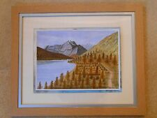 Glacier National Park Montana in acrylic landscape & realism 2013