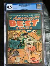 AMERICA'S BEST COMICS #16 CGC VG+ 4.5; CM-OW; Schomburg cover! rare!