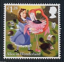 """""""The Game of Croquet"""" (Alice in Wonderland) illustrated on 2015 Stamp - U/M"""