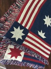 Stars And Stripes Cotton Blanket, Red White And Blue COZY
