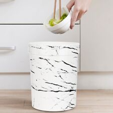 Marble Waste Bin Desktop Garbage Basket Table Lidless Mini Can Trash 20.5*26cm