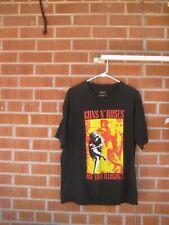 1991 Vintage GUNS and ROSES American Hard Rock Band Fine XL Brockum T-shirt USA