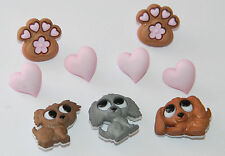 Puppy Love Buttons / Puppy Dogs ~ Paws ~ Hearts / Dress It Up / Jesse James