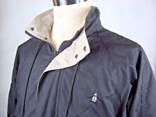 Grand Slam Sz M Mens Vtg  Zip Up Hood Golf Casual Jacket Spell out Penguin Black