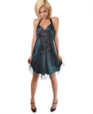 Chic Ribbon Bow Halter Clubwear Cocktail Party Dress