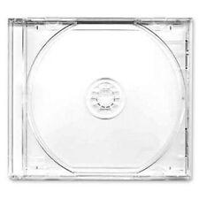 10 Boîtiers CD/DVD 10.4mm 1 CD Centreur Cristal