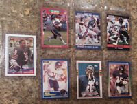 (7) Neal Anderson 1988 Topps 1989 Score Pro Set Rookie Card Lot RC Bears 1990