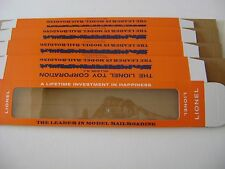 Lionel 2500 Licensed Reproduction Passenger Car Window  Boxes (four boxes)