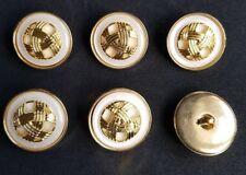 W278 28mm 44L Black /& Gold Shank Dress Jacket Coat Blazer Craft Sewing Buttons