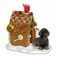 Dachshund Wirehaired Dog Ginger Bread House Christmas ORNAMENT