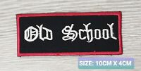 Old school biker Embroidered Iron /Sew On Patch Badge