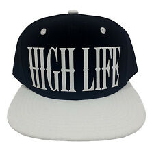 HIGH LIFE BLACK/WHITE (FLOCK) Snapback Cap