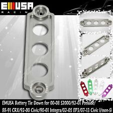 EMUSA Billet Battery Tie Down fit 92-00 Civic/00-08 S2000/92-01 Prelude GREY