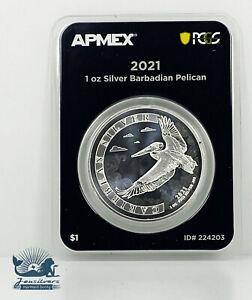 2021 Barbados Pelican .999 Silver, APMEX MD FS Label - LIMITED MINTAGE