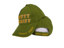 Deputy Sheriff Law Enforcement Police Olive Green Shadow Embroidered Cap Hat