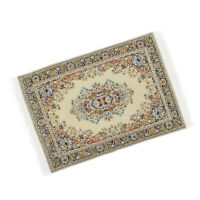 1/12 Beige Woven Rug Floor Carpet Dollhouse Furniture Accessory Miniature