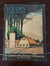 Vintage 1922 LOUDEN Machinery Co. Iowa Barn Plans Blueprints Architectural