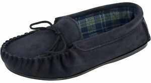 Mens Ladies Moccasin Slippers Cotton Lining & Rubber Sole UK Made by Lambland