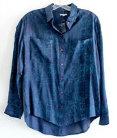 Ecote Urban Outfitters blue Print Shirt Blouse Top M medium urban outfitters