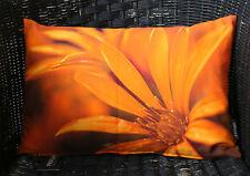 Kissenhülle Kissen Dekokissen Solana 27x43 orange mango Blüte Proflax 100% BW