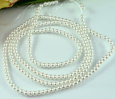 230PCS 4MM Glass Pearl White Color Round DIY Imitation Loose Pearl Beads